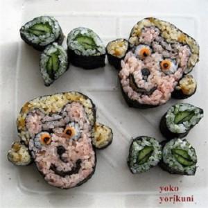 飾り巻き寿司猿